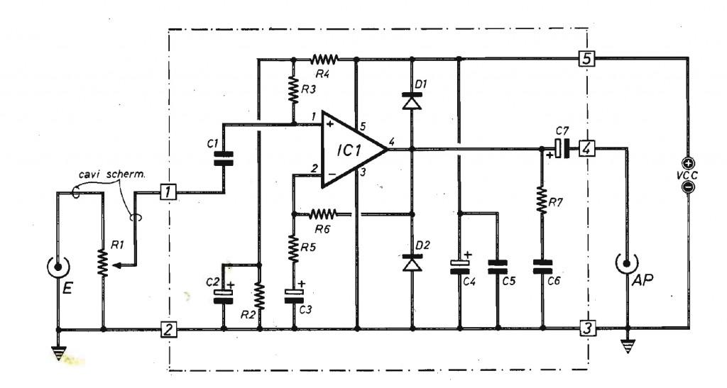 Schemi Elettrici Amplificatori Audio Con N : Elettronica amplificatore di bassa frequenza