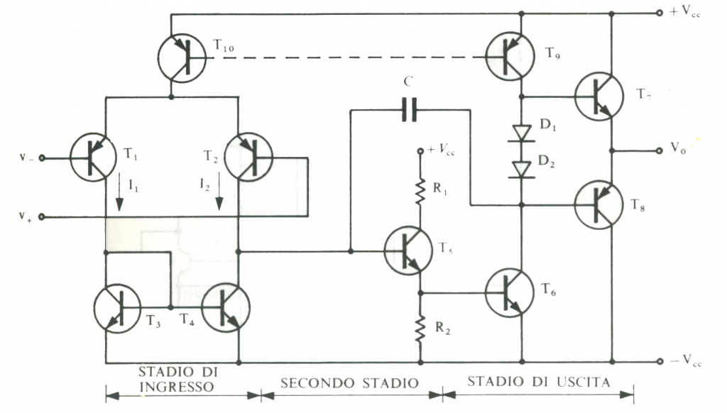 Schemi Elettrici Nuova Elettronica : Amplificatore operazionale differenziale